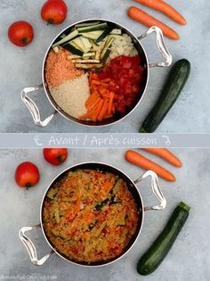 courgette lentilles carotte quinoa corail tomate one pot et One pot quinoa lentilles corail carotte courgette et tomateYou can find For one recipes and more on our website Healthy One Pot Meals, Easy Healthy Recipes, Veggie Recipes, Pasta Recipes, Diet Recipes, Easy Meals, Skillet Recipes, Vegan Meals, One Pot Spaghetti