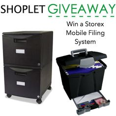 blog giveaway   http://blog.shoplet.com/giveaways/win-a-storex-mobile-filing-system/comment-page-3/#comment-2154654