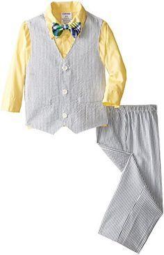 Izod Little Boys' Seersucker Vest Toddler Set, Pale Yellow, 3T/3 IZOD http://www.amazon.com/dp/B00OW2AVRE/ref=cm_sw_r_pi_dp_K6Vbvb1FZAS90