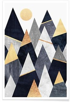Fancy Mountains - Elisabeth Fredriksson - Affiche premium