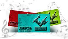 Band Logo Emboss Cards