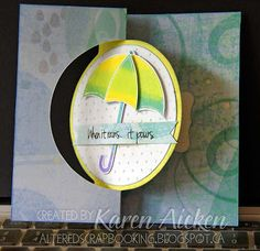 Flip-It card using 'umbrella4you' stamp set from The Stamps Of Life.
