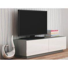Szafka RTV Vomes 6X - biały połysk + popiel w sklepie Edinos.pl