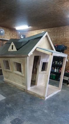 Playhouse plans with construction process complete set of plans construction progress + comments complete material list + tool list DIY building cost $350 FREE shipping FREE sample plans of one of our design