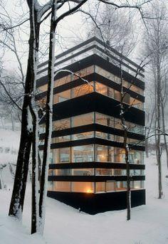 TNA Architecture / Nagano House(눈속의 집상자)