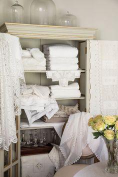 Victoria Magazine, Linens And Lace, Victoria S, Home Interior Design, Cozy, Inspiration, Diligence, Instagram, Hand Sewn