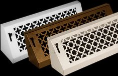 Steel Crest Victorian Baseboard registers are made to be durable and long lasting. They come in three sizes and three finishes you will love. Nickel Finish, Bronze Finish, Baseboard Register, Register Covers, Victorian Design, Baseboards, Oil Rubbed Bronze, Animal Print Rug, Wicker