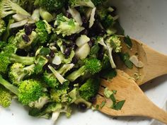 Broccoli & Black Bean Salad / Good Things Grow (wrap in tortilla for full meal)