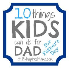 Do you have any plans for Father's Day yet? Do you usually help your little ones make or do something for dad?