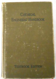 Chemical Engineers Handbook 1941 textbook edition