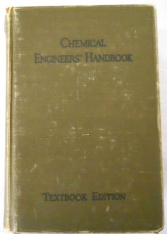 Chemical Engineers Handbook 1941 textbook edition