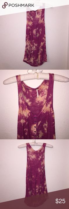 Free People Tank Excellent condition! Size is a S, can fit a M as well because it is more loose. Free People Tops Tank Tops