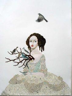Heart Branches 43 x 30 ~ Anne Siems, Artist