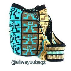 #mochila #wayuu #bags  #aqua  #diseño #exclusivo de #eliwayuubags #arte #tradición & #color