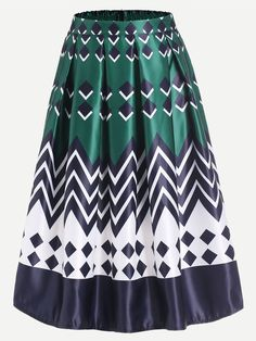 Shop Geometric Print Box Pleated Midi Skirt online. SheIn offers Geometric Print Box Pleated Midi Skirt & more to fit your fashionable needs.