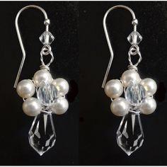 Schöner Perlenschmuck Ohrhänger Hochzeit