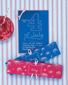 Fourth of July Clip-Art Invitations | Step-by-Step | DIY Craft How To's and Instructions| Martha Stewart