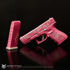 Cerakote Coatings: H-141 Prison Pink with H-140 Bright White (but in a different color other than pink!)