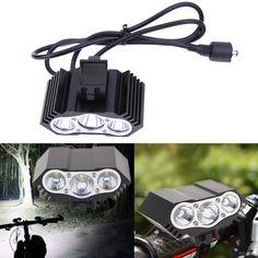 7500LM LED Bisiklet Işıkları Kafa Lambası Bisiklet Far Gece Işık Pil Şarj Bisiklet Aksesuarları Ile Bisiklet Ön Işık