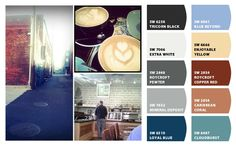 Coffee Shop inspiration from my Oregon Trip. Cloudburst for the living room from @sherwinwilliams
