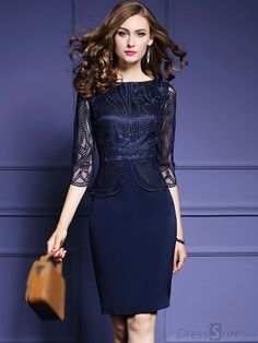 Elegant Embroidery O-Neck Sleeve Bodycon Dress Elegant figure-hugging dress with an O-neck and sleeves Dresses Elegant, Beautiful Dresses, Casual Dresses, Dress Outfits, Fashion Dresses, Dress Clothes, Bodycon Dress With Sleeves, Bodycon Dress Formal, Formal Dresses With Sleeves