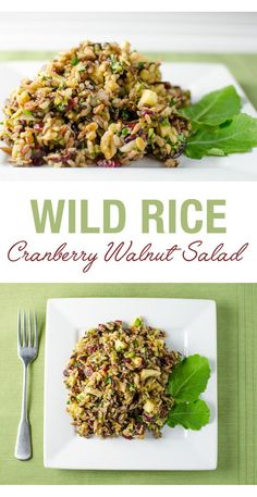 Cranberry Walnut Wild Rice Salad
