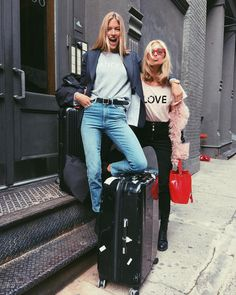 "165.3k Likes, 473 Comments - elsa hosk (@hoskelsa) on Instagram: ""Off with my angel @marthahunt ❤️ get ready Shanghai! ✈️"""