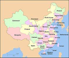 China Population Comparison Map
