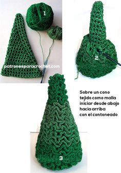 Imagem relacionada - Handarbeit - Her Crochet Christmas Tree Hat, Christmas Crafts, Xmas, Christmas Ornaments, Crochet Ornaments, Crochet World, Plastic Canvas Patterns, Summer Fun, Crochet Projects
