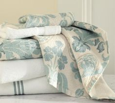 Simonetta Organic Bath Towels | Pottery Barn    Or these towels to keep it more muted? I get carried away with colors :)