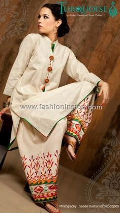 Turquoise 2012 Ready to Wear Eid Dresses for Women 004 Indian Attire, Indian Wear, Indian Style, Pakistani Outfits, Indian Outfits, Salwar Designs, Pakistan Fashion, Patiala, Shalwar Kameez