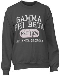Gamma Phi Beta, minus the random Atlanta Georgia part? Alpha Omicron Pi, Gamma Phi Beta, Sigma Kappa, Alpha Phi, Sorority Shirt Designs, Sorority Shirts, Sorority Outfits, Sorority Life, Greek Shirts