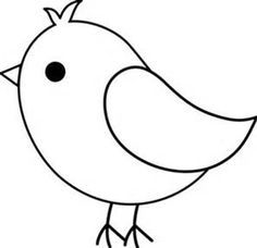 early play templates: Printable free simple bird templates