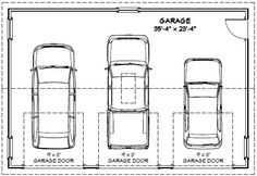 Garage Dimensions Google Search 3 Car Plans Shed House