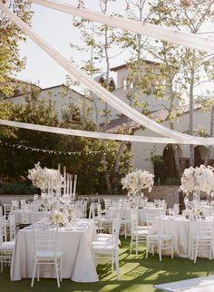 modern chic wedding reception idea; photo: Sylvie Gil