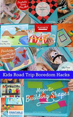 Housewife Eclectic: Kids Road Trip Boredom Hacks. Everything you need to keep your kids busy during a road trip with tons of free printables!