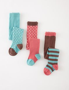 3 Pack Patterned Tights 78106 Socks & Tights at Boden