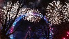 The London Eye at midnight.