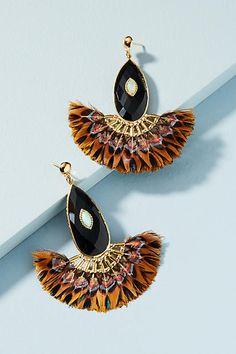 Anthropologie | Gas Bijoux Paon Drop Earrings