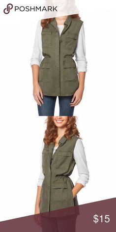 Green utility vest Buffalo Vest. Size small. Slits on both sides. Olive Green. Tags attached. Buffalo Jackets & Coats Vests