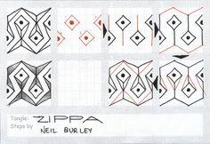 Zippa tangle pattern - zentangle