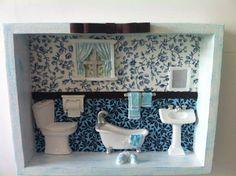 Quadro para banheiro em MDF, produto totalmente artesanal. Faço em outras cores.