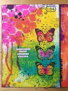 Beautiful journal page by Birgit Koopsen for Carabelle Studio