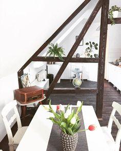 Dachgeschoss Mit Offenen Balken U2013 Urig Und Modern Zugleich! Altbau  #dachgeschoss #dachboden #