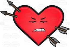 Hurt Heart And Arrows Emoji #ache #arrow #big #Blackborder #border #cartoon #cherry-red #colored #Crimson #cute #damage #damaged #detriment #distress #emoji #emoticon #form #harm #heart #heartshape #heartshaped #huge #hurt #injure #injured #injury #object #pain #painfulness #red #ruby #scarlet #scathe #shape #smiley #smilies #suffering #trauma #weakened #wound #wounded #vector #clipart #stock