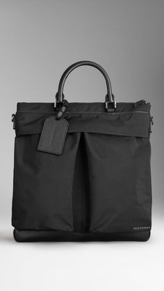 London Leather and Nylon Tote Bag | Burberry