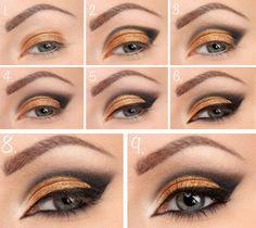 Bildresultat för party makeup steg för steg