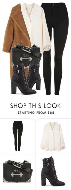 """Untitled #7139"" by laurenmboot ❤ liked on Polyvore featuring Topshop, The Row, Prada and Schutz"
