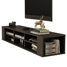 Wall Mounted Console, 2 Tier Modern Wall Mount Storage Shelf, TV Console for Cable Boxes/Routers/ Remotes/DVD Players/Game, Wall Mounted TV Stand Hanging TV Cabinet, Silver Tv Stand Hanging, Hanging Tv, Wall Mount Tv Stand, Hanging Cabinet, Wall Mounted Storage Shelves, Wall Mounted Tv, Shelf, Electronics Projects, Tvs
