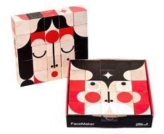 Cubes FaceMaker - Les jouets en bois de Miller Goodman / Blog DesignForKids
